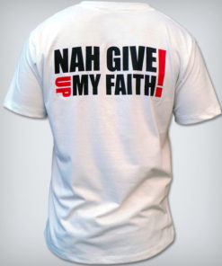 camisa ny give up my faith