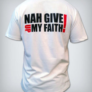 camisa ny give up my faith