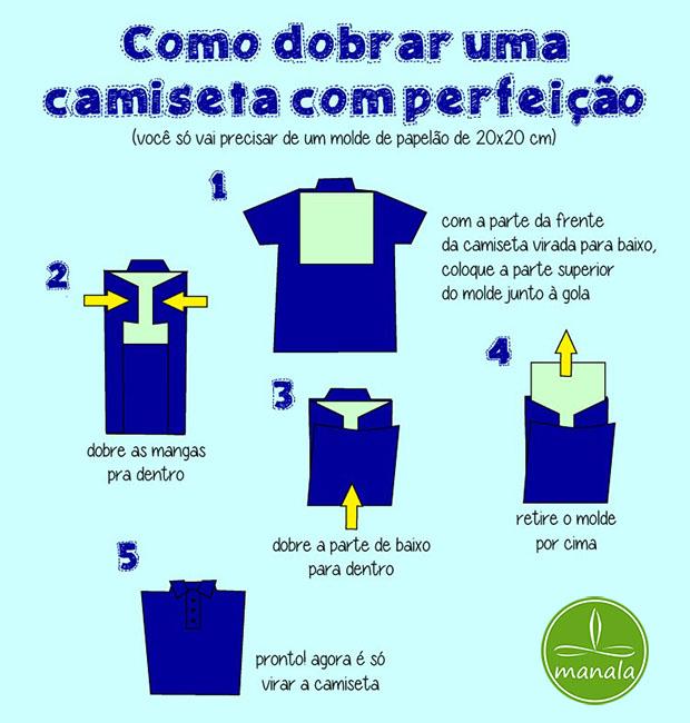 Como dobrar Camisetas com Perfeição