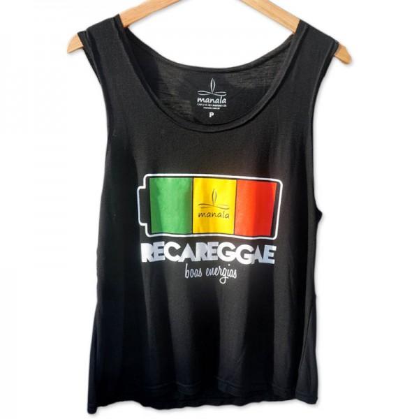Regata Flamê Cavada - Recareggae preta - Manala - Camisetas ... 62f4ef8127b
