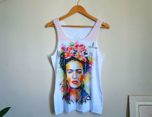 Home Mulheres Regatas Femininas. Camiseta Regata Frida Kahlo 0063923cd63