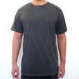 Camiseta estonada lisa cinza escuro grafite