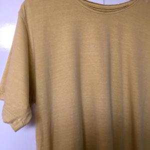 camiseta estonada amarela lisa