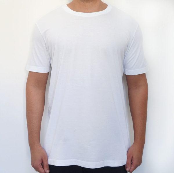 Camiseta estonada branca lisa