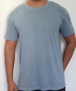 camiseta estonada cinza lisa