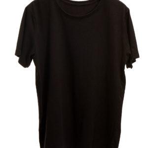 Camiseta estonada preta lisa
