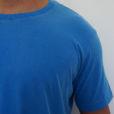 Camiseta Estonada Azul Lisa Detalhes