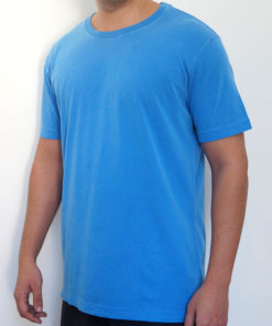 Camiseta Estonada Azul Lisa