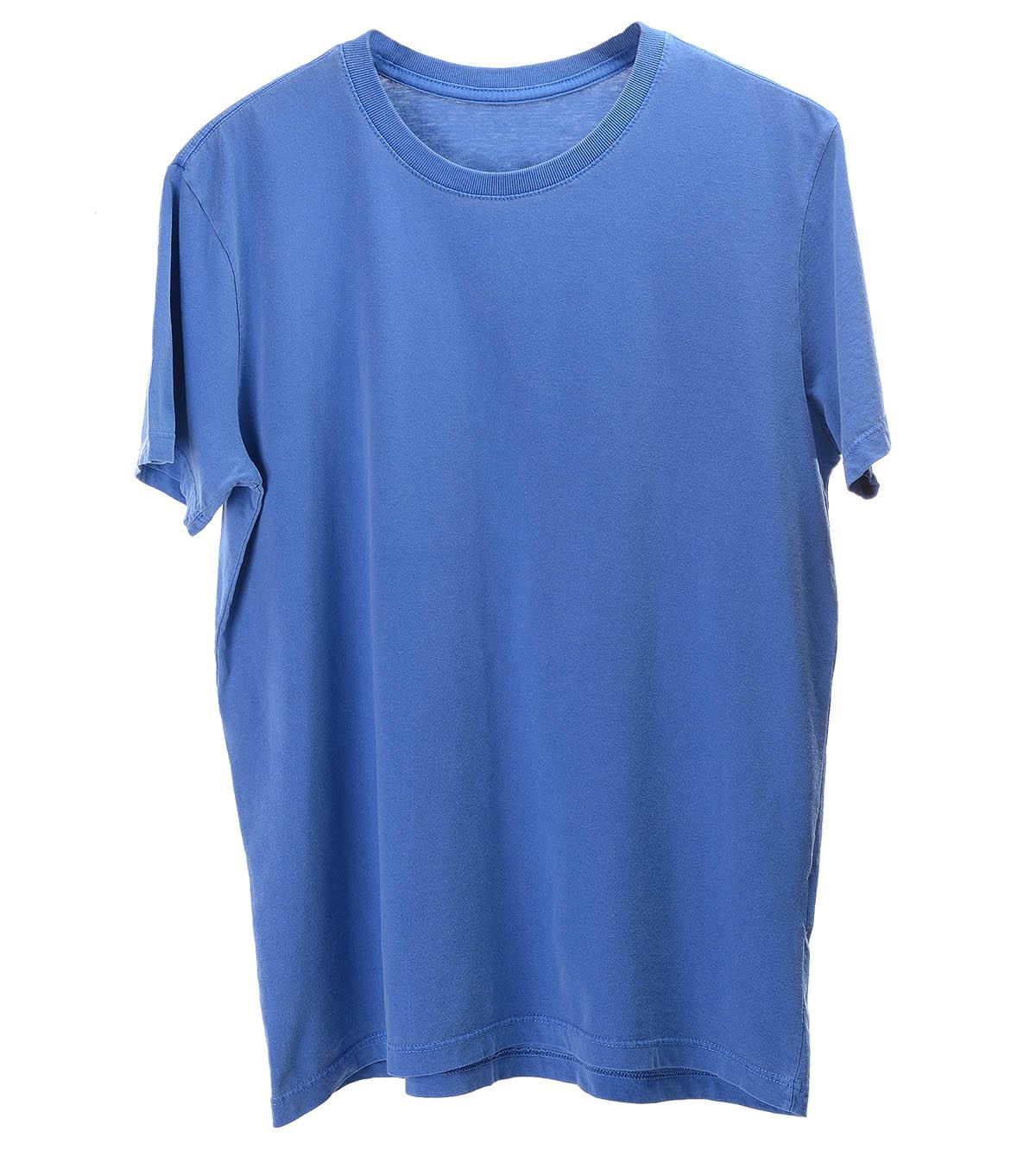 Camiseta lisa estonada azul