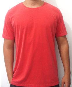 camiseta estonada vermelha