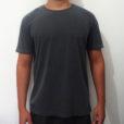camiseta estonada cinza escuro premium